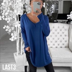 BUTTER TUNIC— in Sapphire